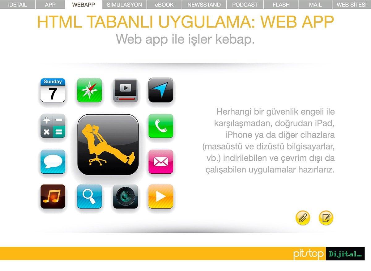 html tabanlı uygulama: webapp